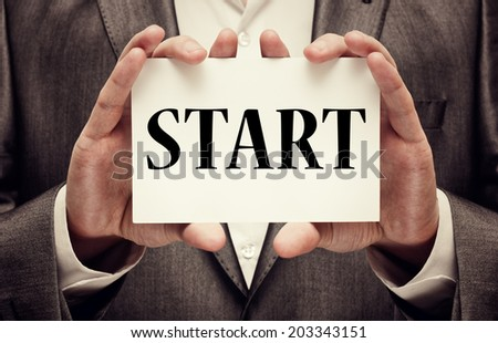 Start. Business concept - stock photo
