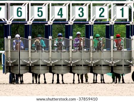 Race Start Clipart Start Gates For Horse Races