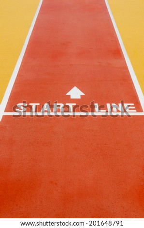 Start line for races or business. Concept of challenges and success