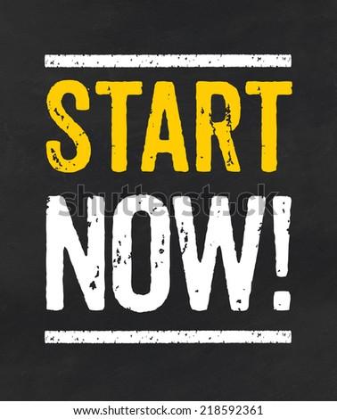 Start now - stock photo