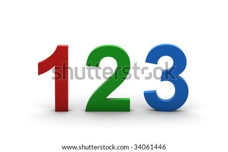 Start Numbers. - stock photo
