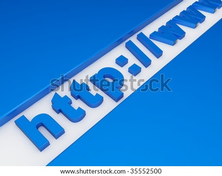 Start of a web address in 3d - stock photo