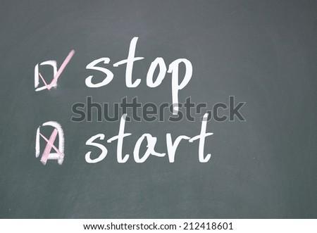 start or stop determine  - stock photo