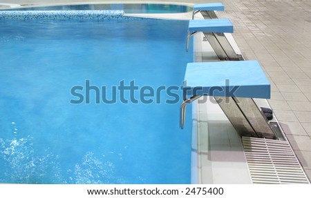 start place in pool - stock photo