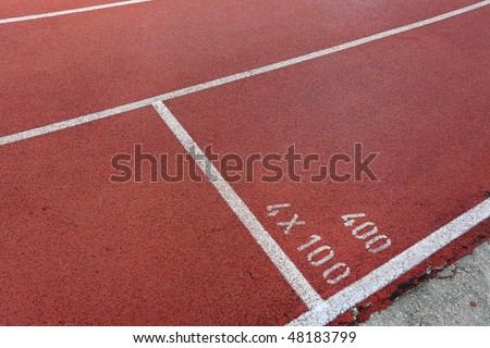 start point on running track - stock photo
