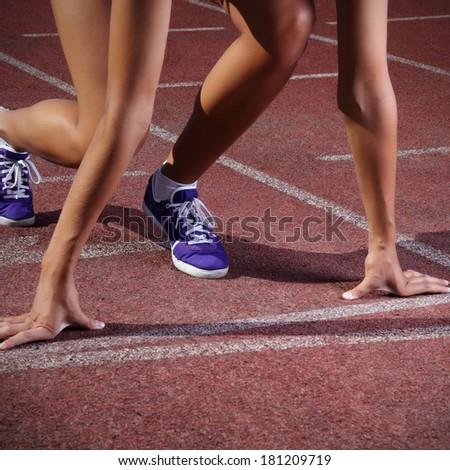 start run - stock photo