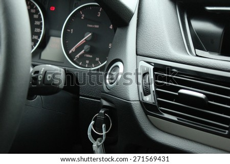 Start-stop button in the car