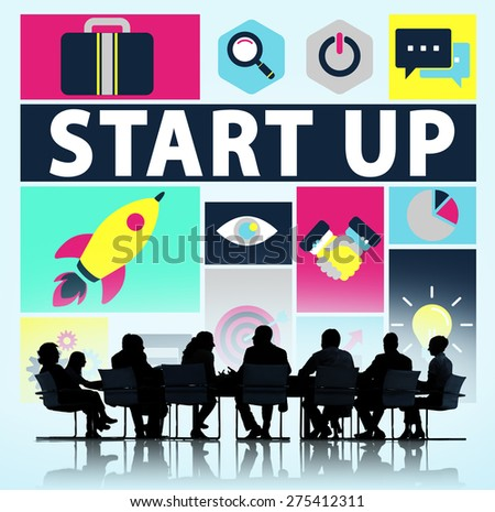 Start Up Business New Launch Technology Concept - stock photo