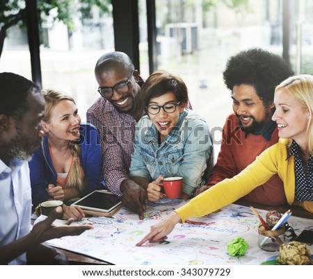 Start up Business Team Meeting Ideas Concept - stock photo