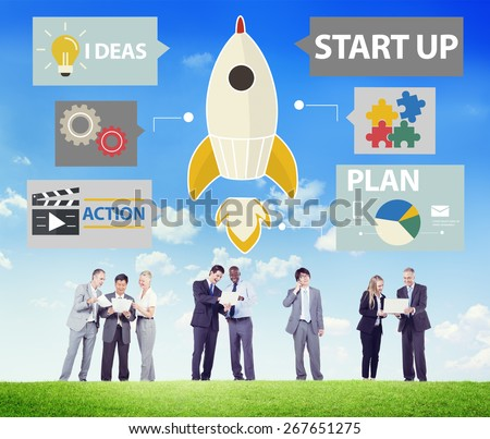 Start Up Innovation Planning Ideas Team Success Concept - stock photo