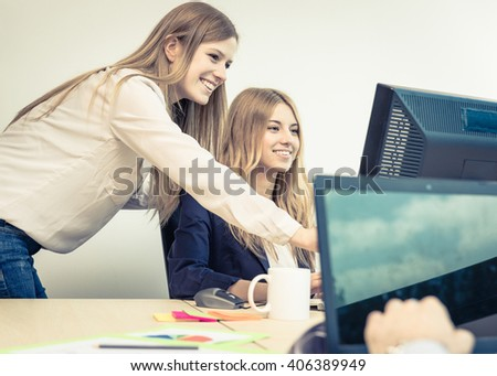 Start up manager showing new project on the computer - stock photo