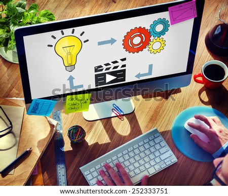 Start Up Success Growth Launch Strategy Inspiration Concept - stock photo
