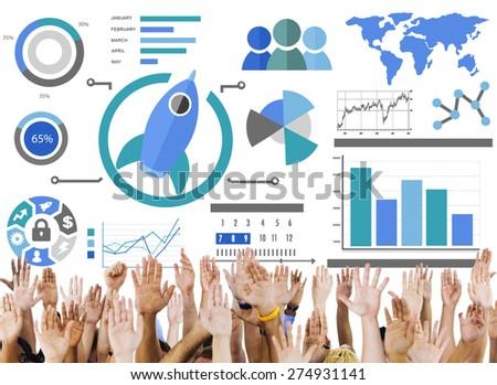 Start up Support Volunteer Innovation Global Business Concept - stock photo