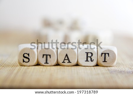 Start word concept - stock photo