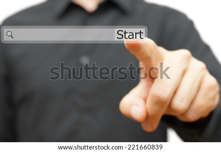 Start your new job, career or project online. find opportunity or ideas concept - stock photo