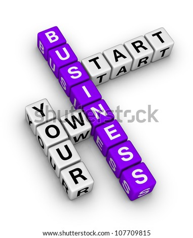 start your own business - stock photo