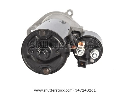 Starter Car spare parts - stock photo