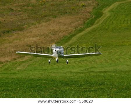 Startin airplane. Airshow, Miedzybrodzie bielskie near Zywiec, Poland, 20.08.2005 - stock photo