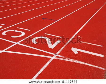 Starting Grid of Race Track in Stadium - stock photo