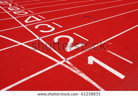 Starting Grid of Race Track in Stadium
