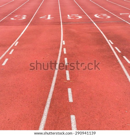 Starting line on a college track