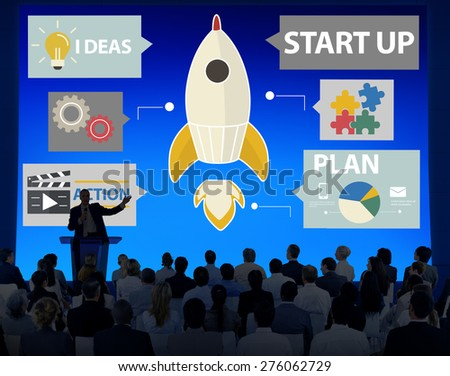 Startup Innovation Planning Ideas Team Success Concept - stock photo