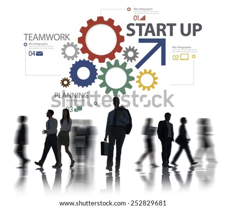 Startup New Business Plan Strategy Teamwork Concept - stock photo