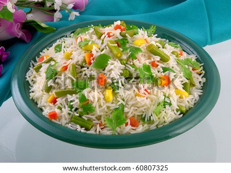 Starving Vege Rice - stock photo