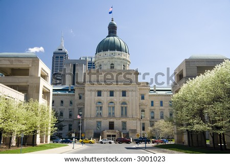 State Capitol Building in Indianapolis, Indiana - stock photo