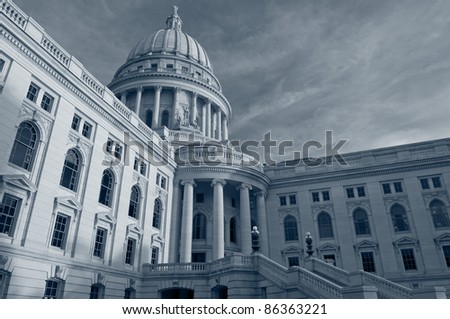 State capitol building, Madison. - stock photo