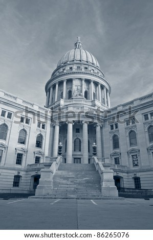 State capitol building, Madison, Wisconsin, USA. - stock photo