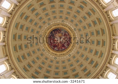 State capitol dome - stock photo