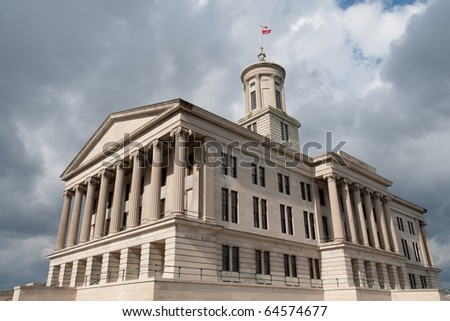 State Capitol in Nashville, capital of Tennessee state, USA - stock photo