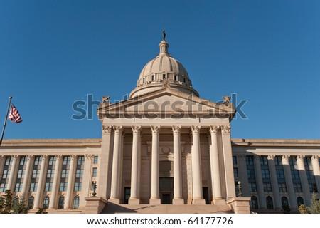 State Capitol in Oklahoma city, capital of Oklahoma state, USA - stock photo
