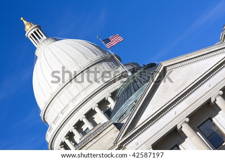 State Capitol of Arkansas in Little Rock. - stock photo