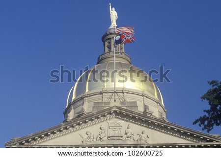 State Capitol of Georgia, Atlanta - stock photo