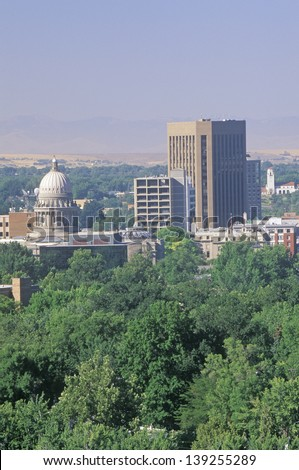 State Capitol of Idaho, Boise - stock photo