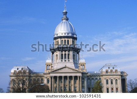 State Capitol of Illinois, Springfield - stock photo
