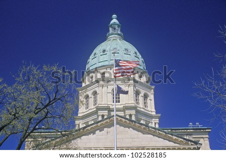 State Capitol of Kansas, Topeka - stock photo