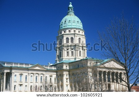State Capitol of Kansas, Topeka - stock photo