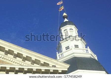 State Capitol of Maryland, Annapolis - stock photo