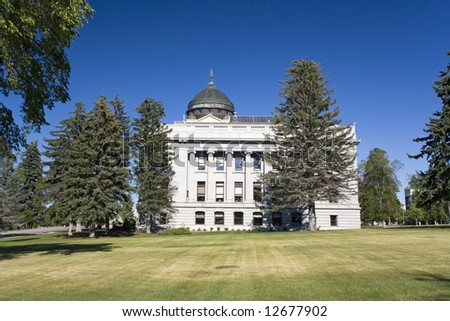 State Capitol of Montana in Helena - stock photo