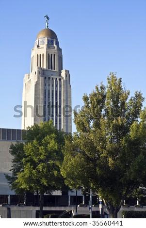 State Capitol of Nebraska in Lincoln. - stock photo
