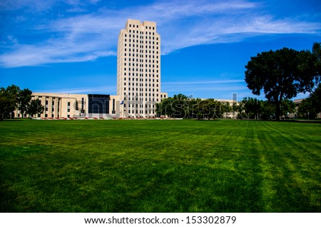 State Capitol of North Dakota - stock photo