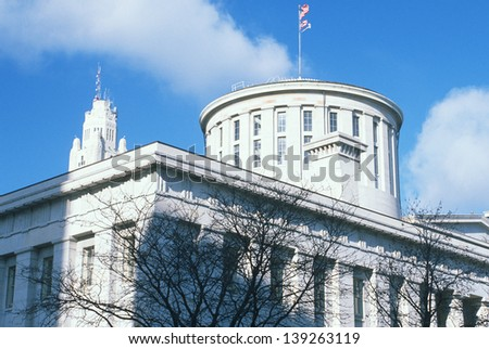 State Capitol of Ohio in Columbus, OH - stock photo