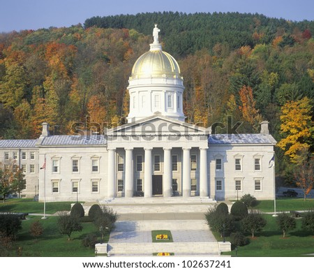 State Capitol of Vermont, Montpelier - stock photo