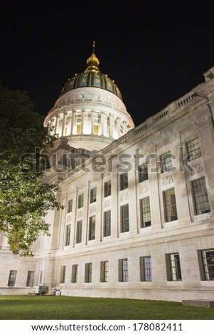 State Capitol of West Virginia in Charleston - stock photo