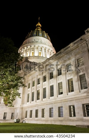 State Capitol of West Virginia in Charleston. - stock photo