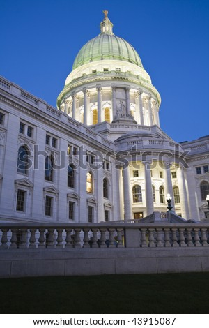 State Capitol of Wisconsin in Madison. - stock photo