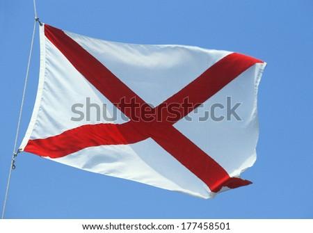 State Flag of Alabama - stock photo